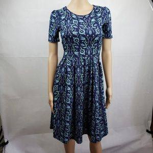 🔴SALE🔴 LuLaRoe Blue and Green Floral Dress XS